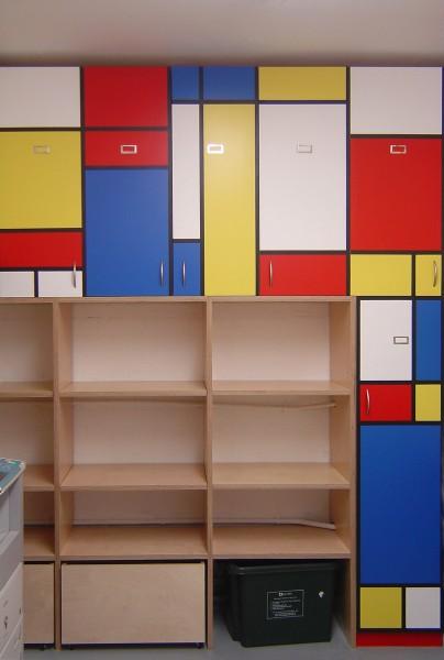 Mondrian storage by Titus Davies