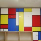 Mondrian shelves Titus Davies